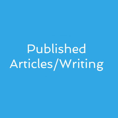 Published Articles/Writing